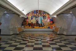 Mural on the end of the passageway
